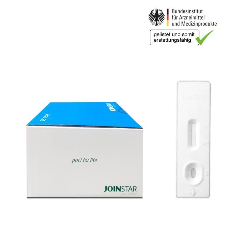 Prueba rápida del antígeno COVID-19. Realización del test no invasivo con muestras de saliva, esputo o heces.