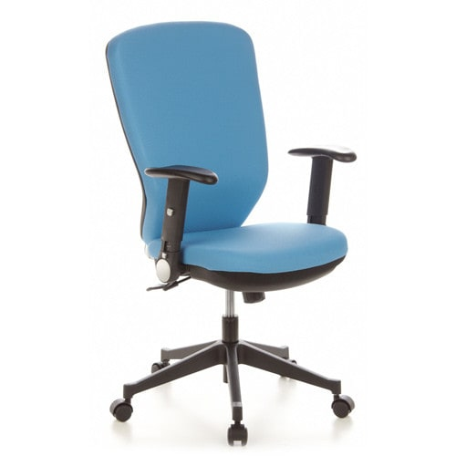Office chair with high, ergonomic backrest and Softpad armrests