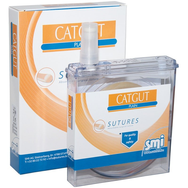 Catgut Plain veterinary suture | Absorbable, uncoated and untreated