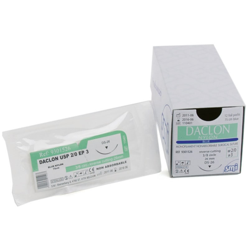 Daclon Nylon non-resorbable monofilament suture