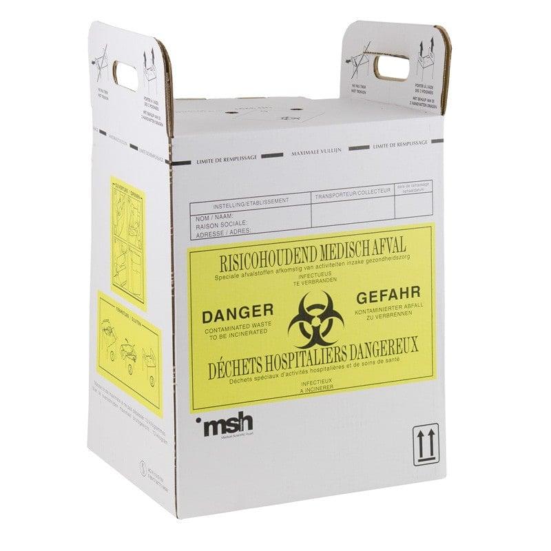 Sharpsafe Entsorgungskarton mit innenliegender Polyethylen-Folie