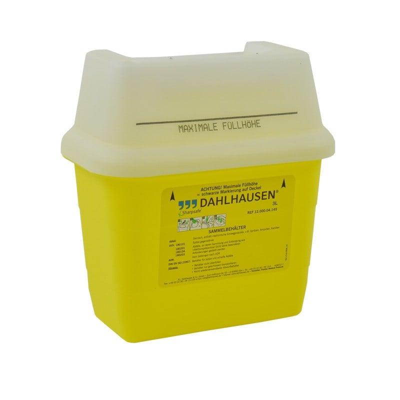Sharpsafe Kanülenabwurfbehälter mit Möglichkeit der Füllstand-Kontrolle