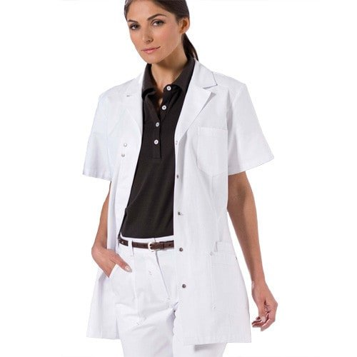 Ladies Lab Coat, White