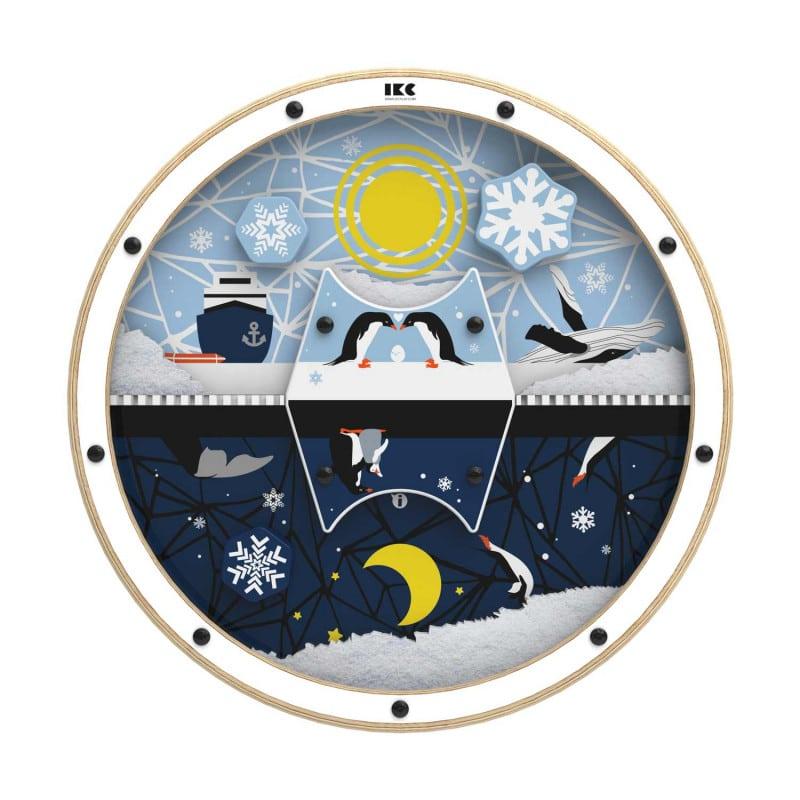 Wandspielrad «Tag und Nacht in der Arktis» in kindgerechtem Design