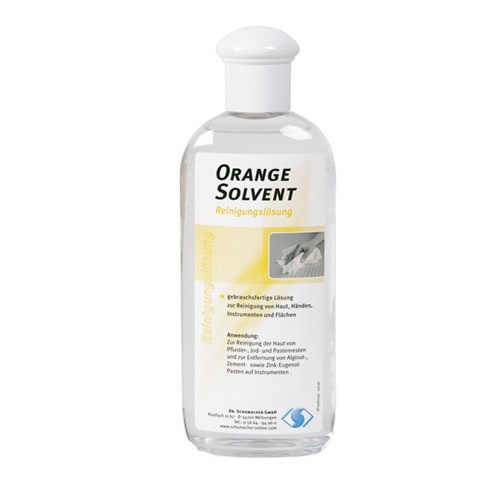 Orange Solvent dental cleaning agent