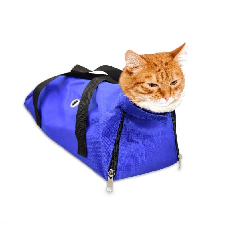 Torba iniekcyjna dla kota do stabilizacji zwierzęcia podczas zabiegu