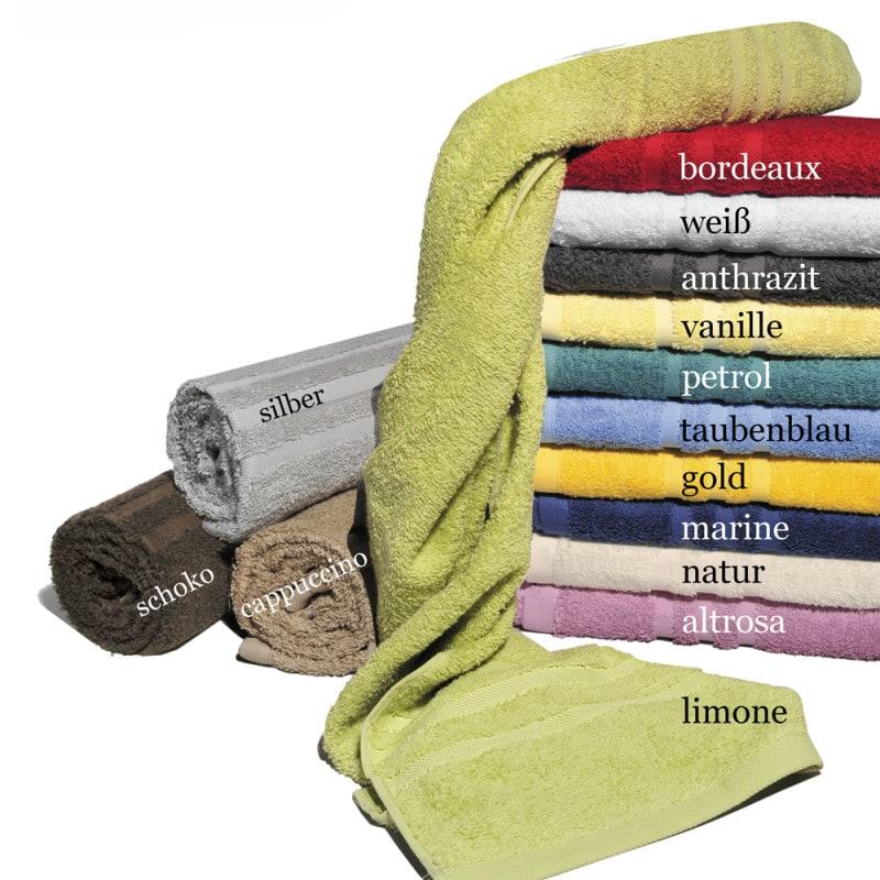 Handtuch «Lünten» aus weichem, saugstarkem Walkfrottier. Größe: 50 x 100cm