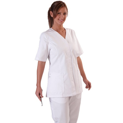 Women Scrub Tunic with V Neck
