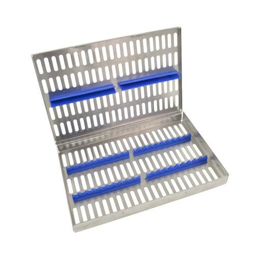 Instrumentenkassette für die Sterilisation, mit Silikonhalterungen