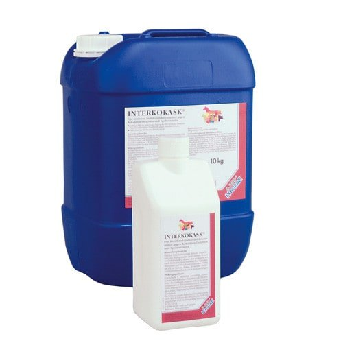 Interkokask disinfectant concentrate for stalls, coops and pigionries