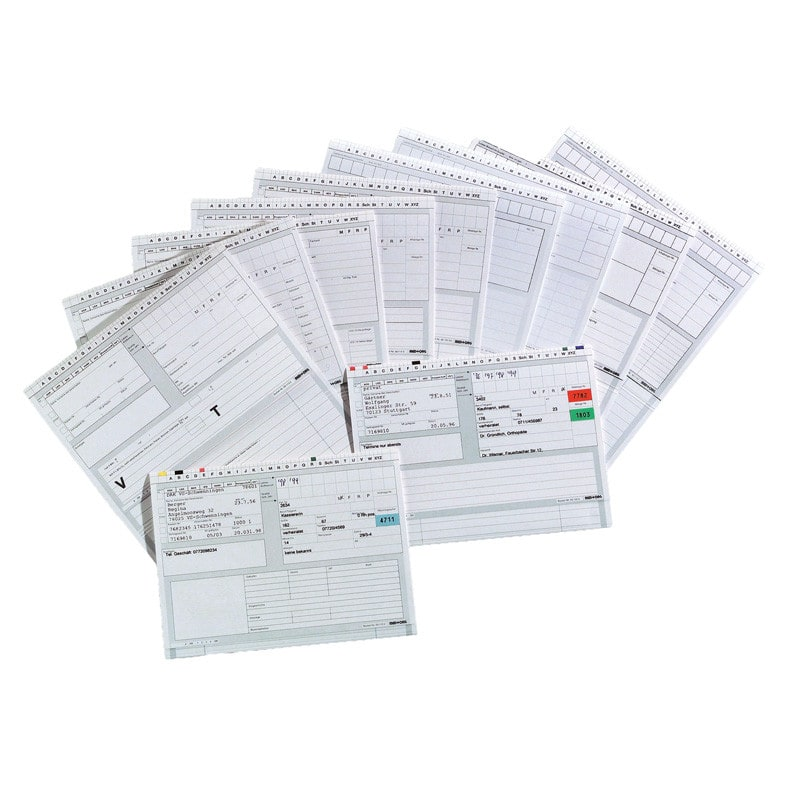 Alpha-Norm medical file cards DIN A5