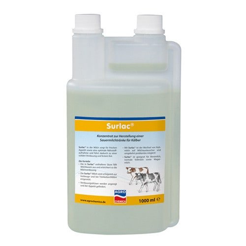 Surlac Liquid, fermented milk drink to stabalise water and electrolyte balance in calves
