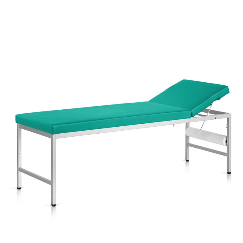 ECG table with rectangular, steel tube frame | With height-adjustable, floor balancing sliders