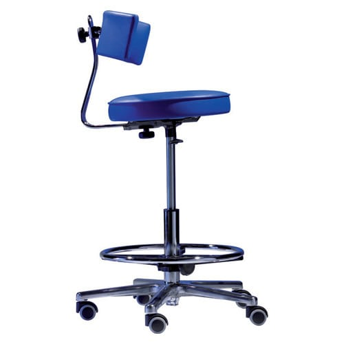 Special - rotary stool with inclination system and foot ring