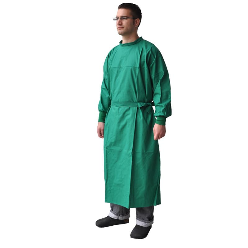 Long-sleeve, long-length surgical gown | Can be sterilised; washable at 95°C