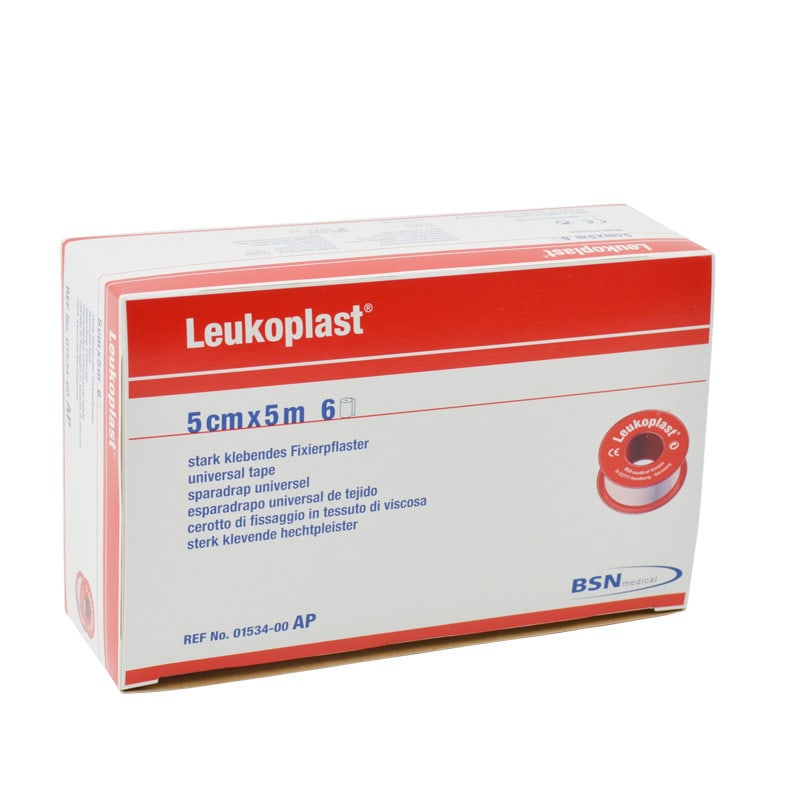 Leukoplast universal tape with zinc-oxide adhesive for securing dressings, catheters, etc.