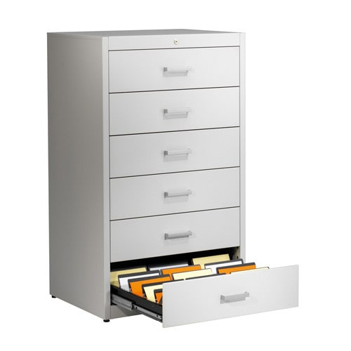 Mauser metallic storage cupboard with self closing system