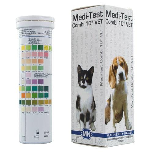 Medi-Test Combi 10 VET Harnteststreifen für die Tiermedizin