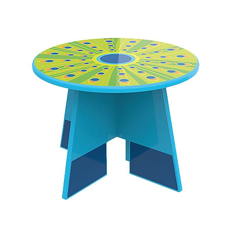 """Mesa para niños """"Pavo real"""" para combinar con los taburetes para niños"""