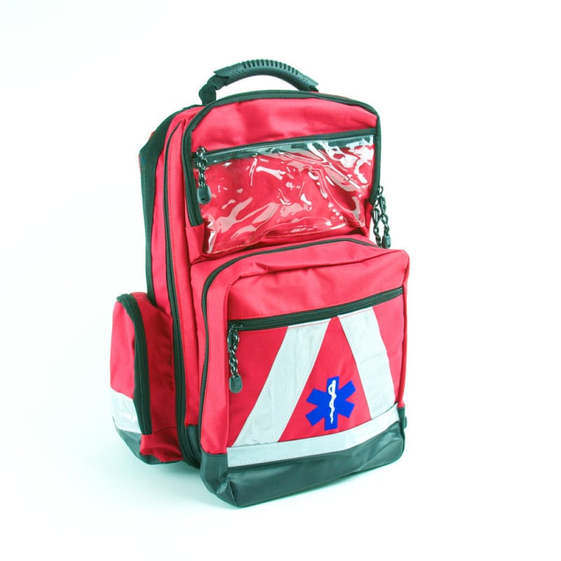 Rescue rucksack for emergency medical services | Water repellent, with reflective stripes