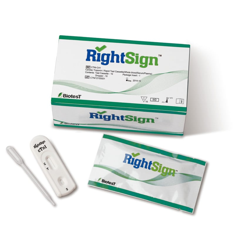 Right Sign cTnI Troponin-Test, 10 Stück
