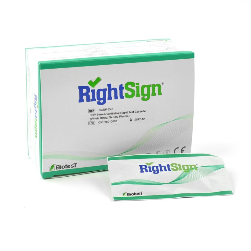 Right Sign test CrP