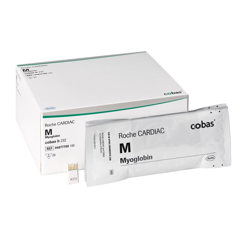 Roche CARDIAC M - Myoglobin-Teststreifen für das cobas h 232