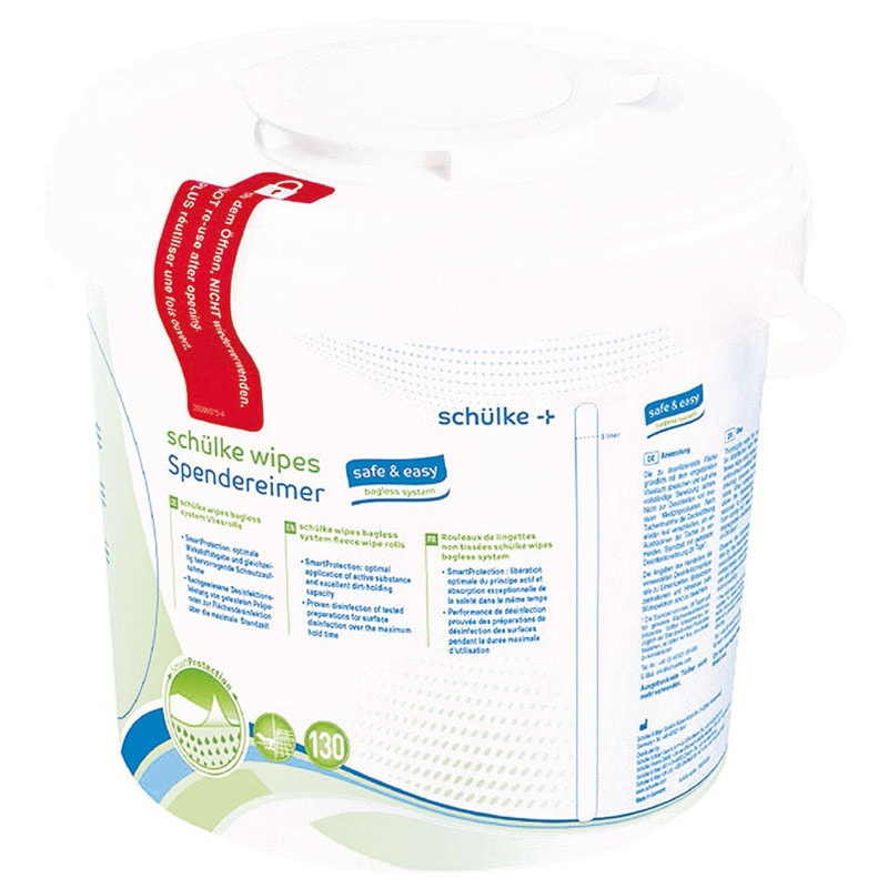 Schülke Wipes, safe & easy bagless system