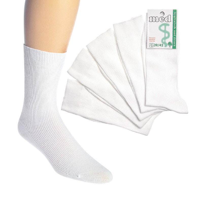 Chaussettes de médécin, blanc