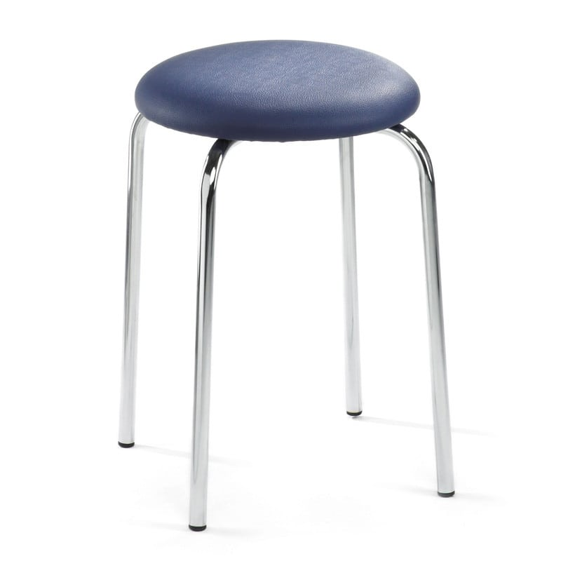 Tabouret empilable, similicuir, rembourré