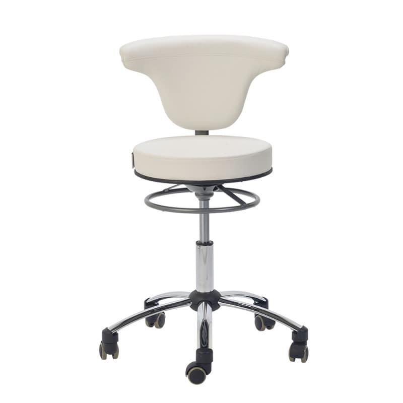 Praxis-Drehstuhl mit um 360°C drehbarer Rückenlehne