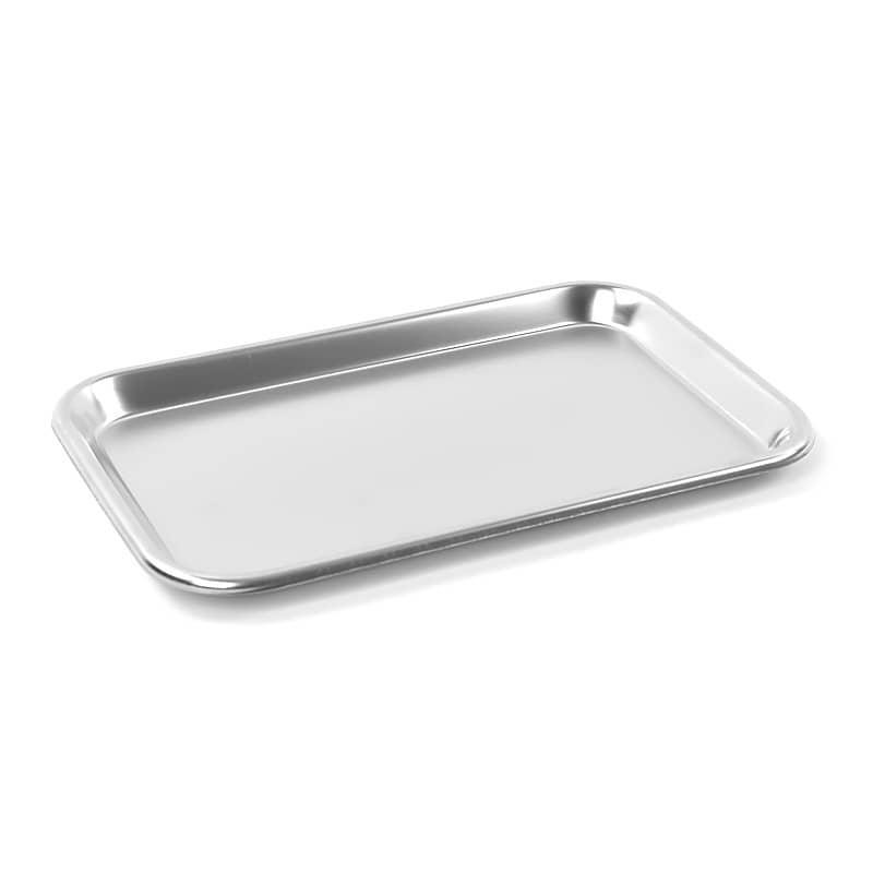 Teqler Edelstahltablett aus Edelstahl 304 zur hygienischen Instrumenten-Ablage
