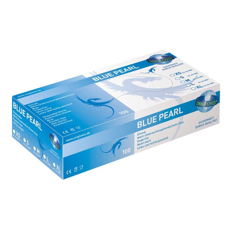 Unigloves Pearl rękawice nitrylowe zgodne z normą EN 455, T. 1-4 & AQL 1,5