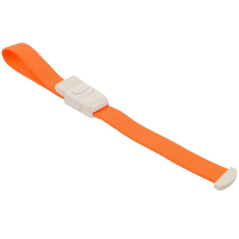 Latexfreier Venenstauer mit Plastik-Verschluss und Druckknopf