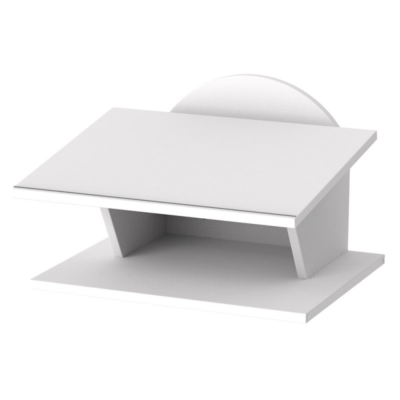 Wall desk with lay-on surface