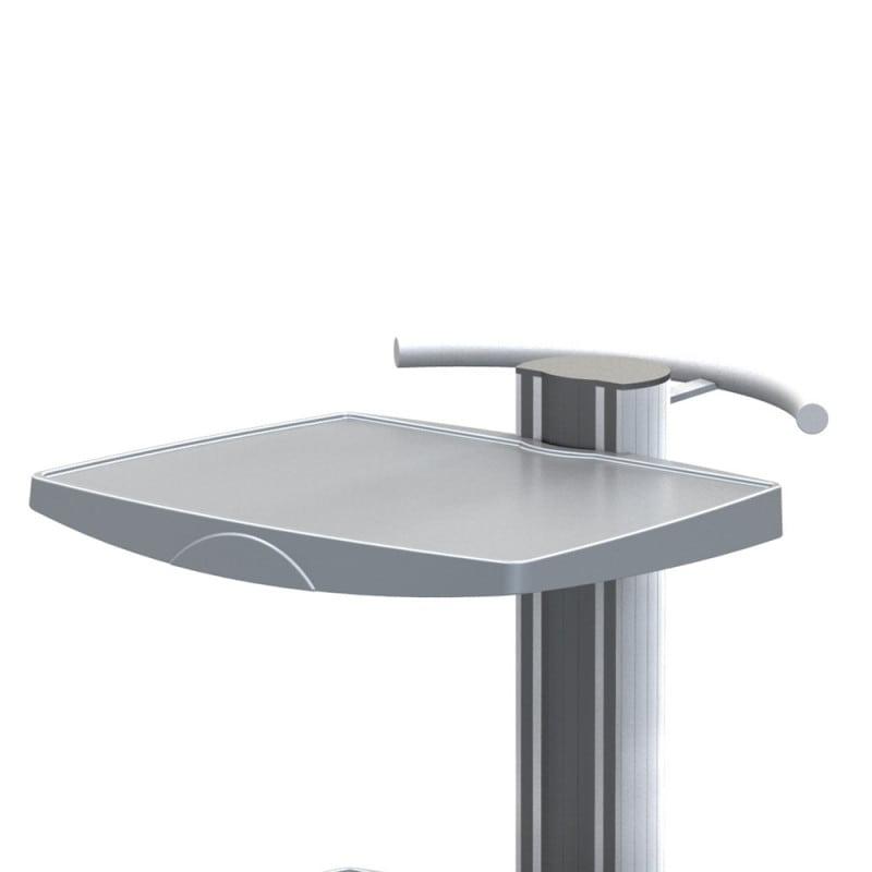 Hochwertige Ablageplatten (ABS-Kunststoff) und ergonomischer Schiebegriff