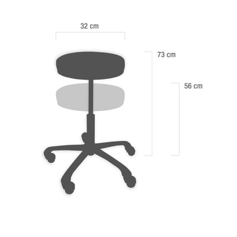 Rotary stool, wood