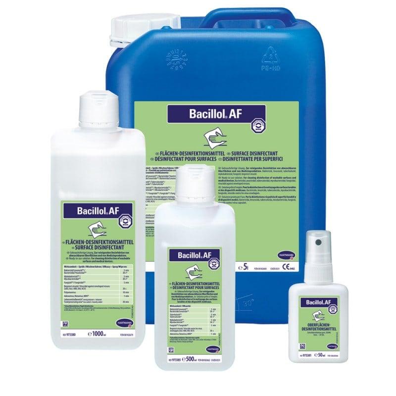 Bacillol AF ist in verschiedenen, bedarfsgerechten Größen erhältlich
