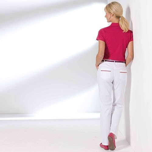 Women's trousers with colour accents