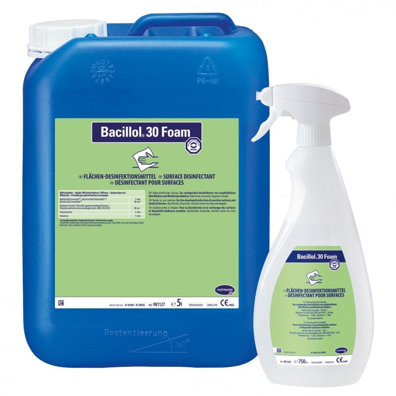 Désinfectant moussant pour les surfaces Bacillol® 30