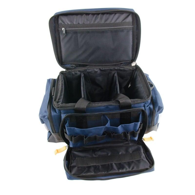 Rettungstasche mit 2 aufgesetzten Seitentaschen für flexiblen Stauraum