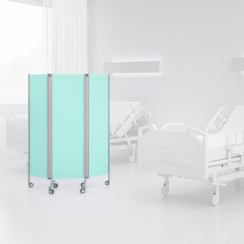 Hervorragend geeignet zur Abschirmung von Patienten, z. B. in Krankenzimmern