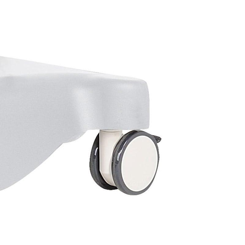 With 4 lockable designer castors (∅ 12.5 cm)