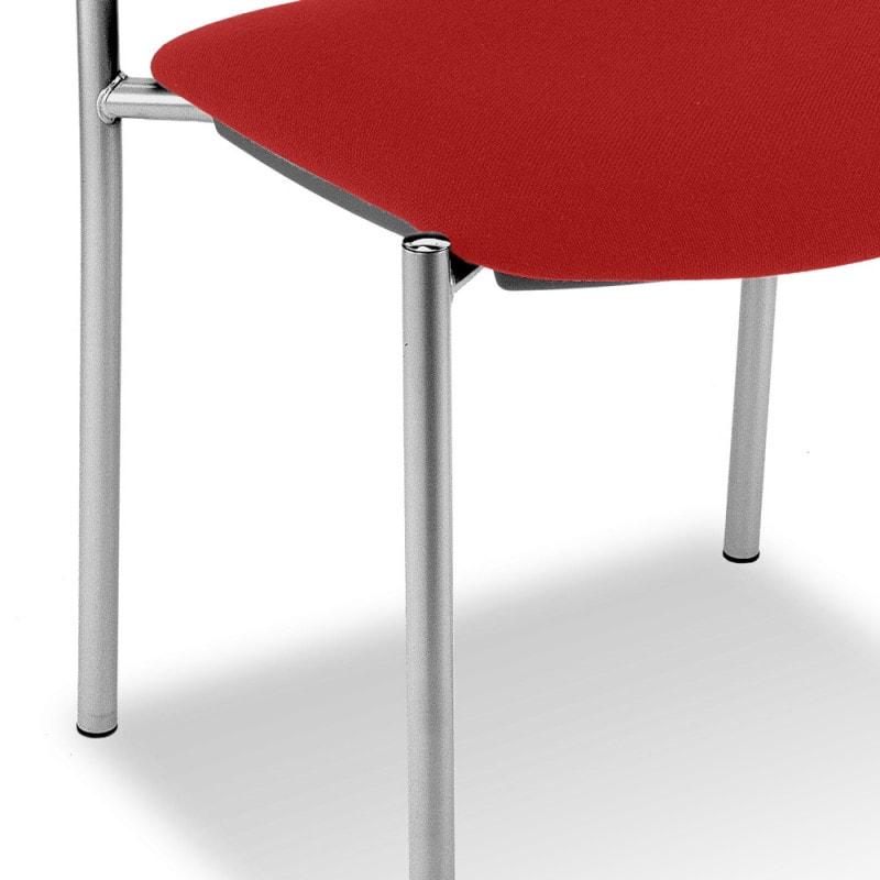Stackable, with chromed, 4-legged frame