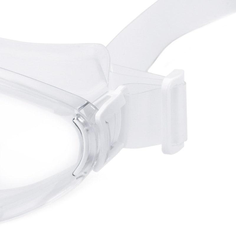 Die Größe der Schutzbrille lässt sich durch das Silikonband individuell anpassen