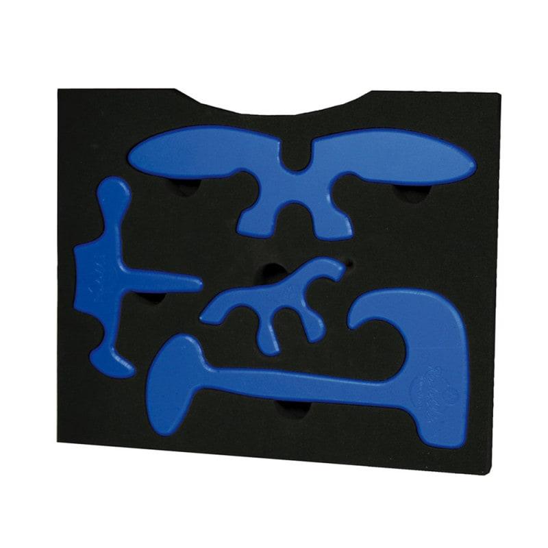 4 Original Richelli-Therapiehilfen: Painreliever, Spinemover, 3Dthumb, Dino