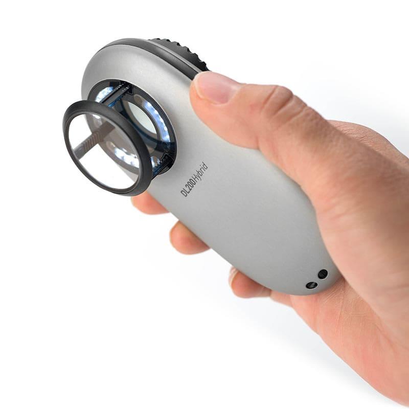 DL200 Hybrid con disco de contacto (escala 10 mm) para medición