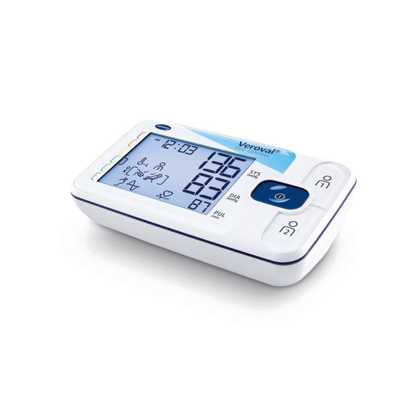 Digital upper arm blood pressure monitor with large display