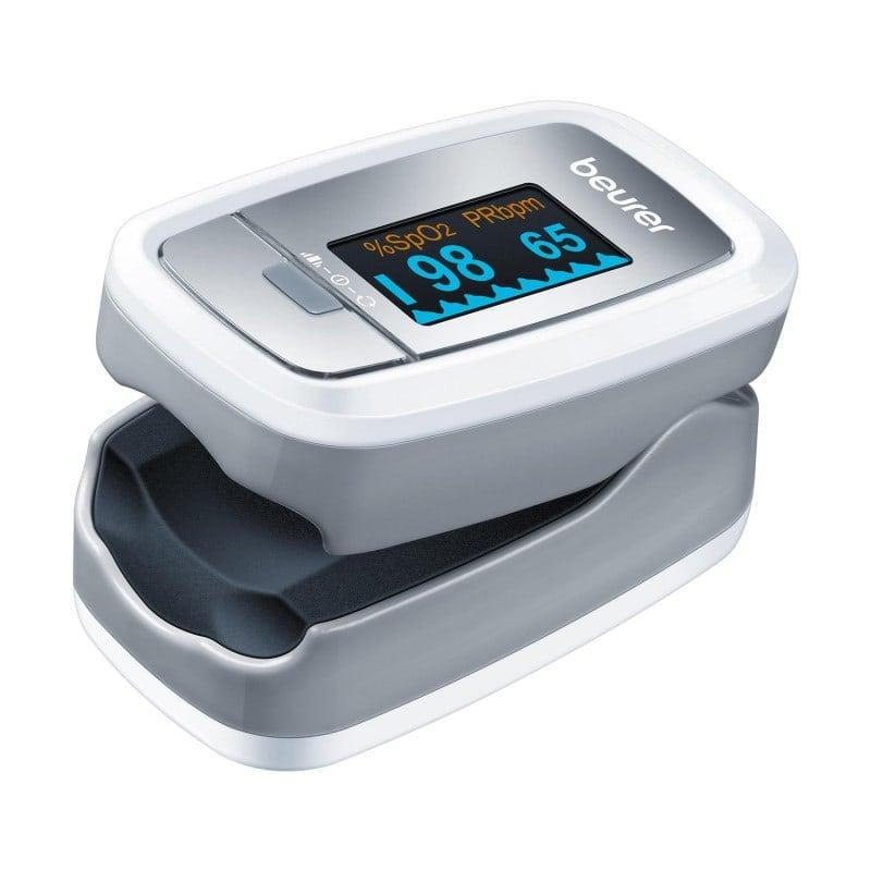 Medición rápida y sencilla de SpO2 y frecuencia cardíaca directamente en el dedo