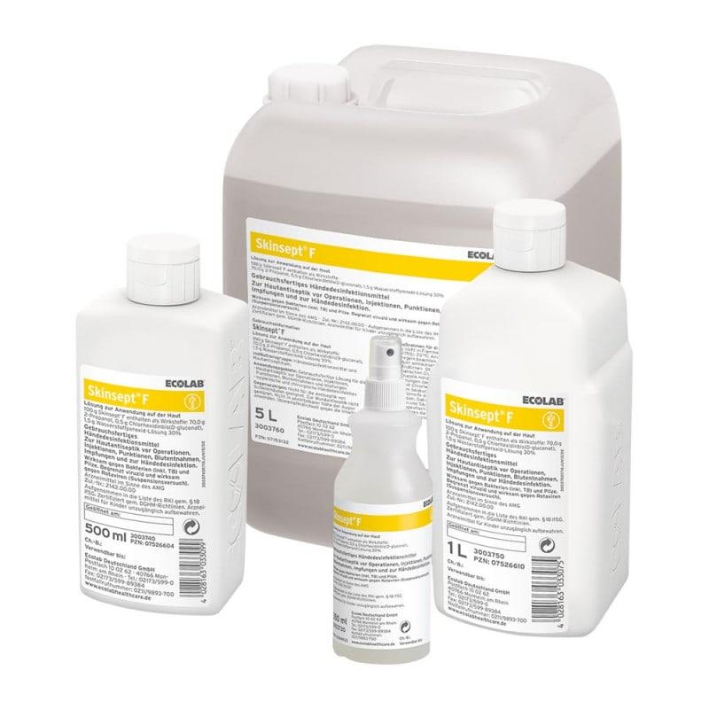 Erhältlich in verschiedenen Gebinden - von der 350ml Sprühflasche bis zum 5 Liter Kanister